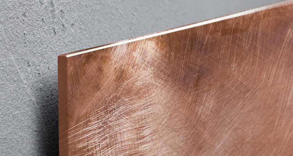 Detailansicht des Glas-Magnetboards in Holz-Optik