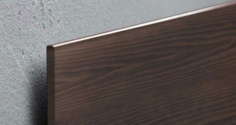 Glas-Magnetboard dark wood