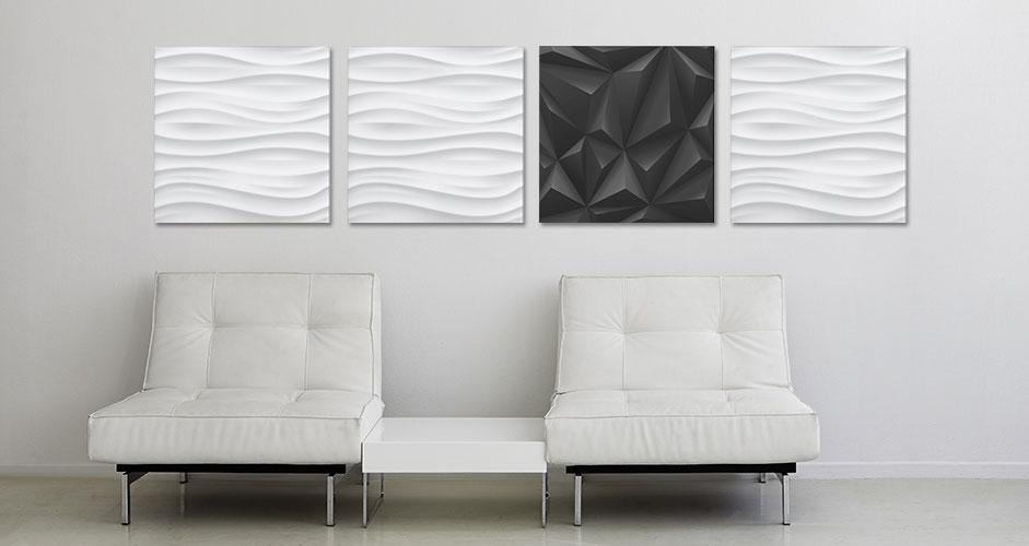 Glas-Magnetboard white wave