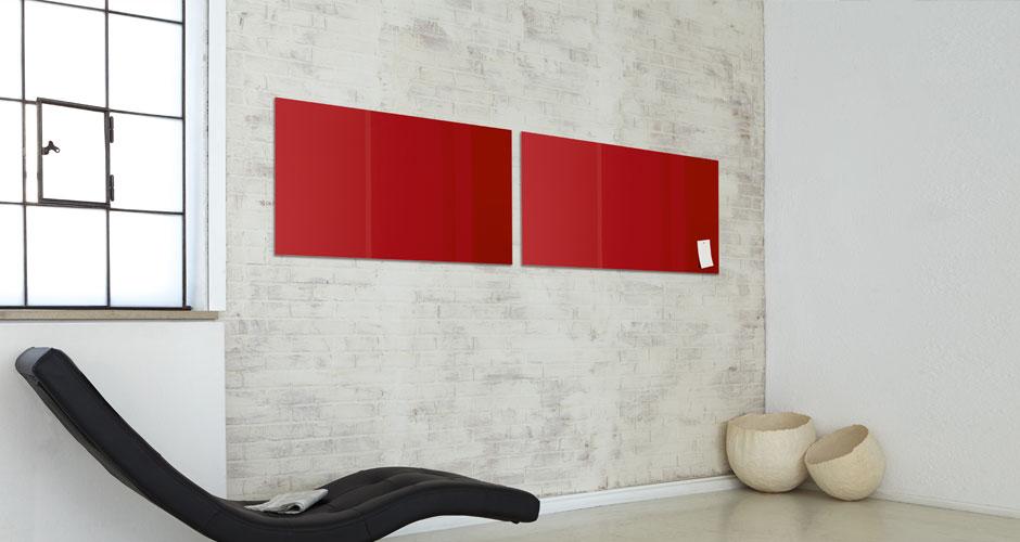 Glas-Magnetboard artverum rot Breitwand - Sigel