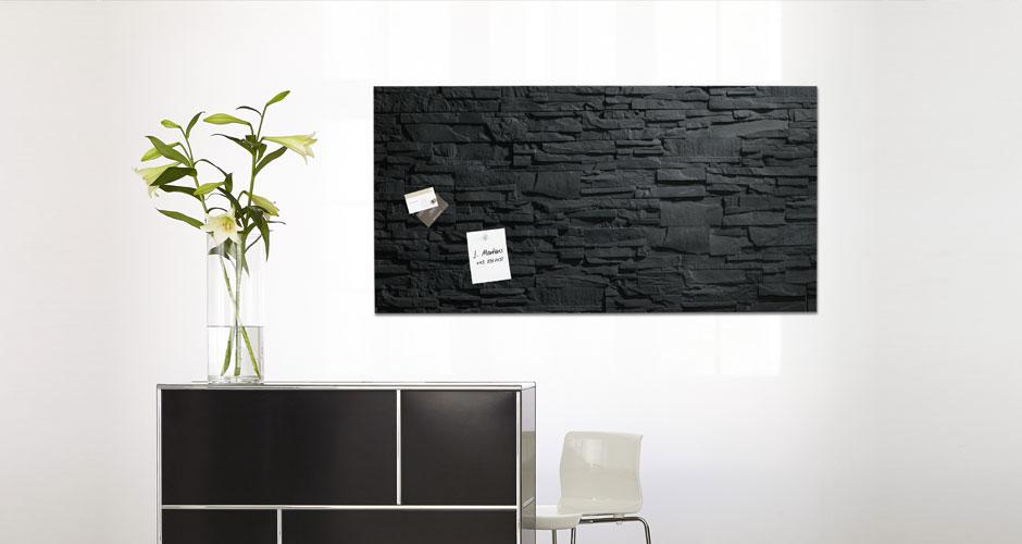 Glas-Magnetboard artverum Schiefer Breitwand Ambiente - Sigel