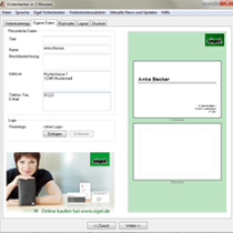 Visitenkarten in 2 minuten - Visitenkarten freeware ...