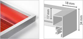 Tiefprofil-Rahmen bold