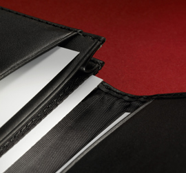 Business card case leder