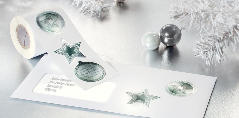 sticker frohe weihnachten